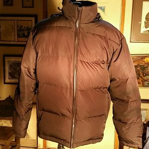 London Fog Dark Brown Down Filled Jacket. L